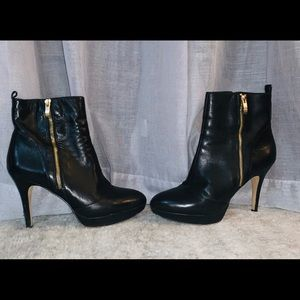 Vince Camuto Leather Platform Booties